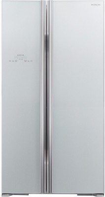 Hitachi 659 L Frost Free Side by Side Refrigerator(Glass Silver, R-S700PND2 GS)
