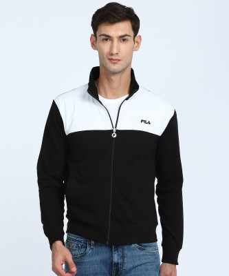 Fila Full Sleeve Solid Men Sweatshirt at flipkart