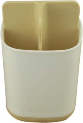 AVMART Portable Yellow Toothbrush, Toothpaste Holder Storage Organiser 11 cm Plastic Toothbrush Holder(Yellow, White) at flipkart