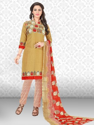 AZAD DYEING Cotton Printed Salwar Suit Dupatta Material(Unstitched)