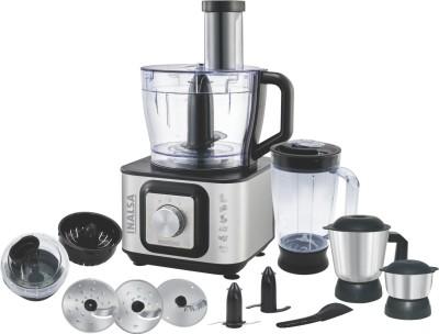 Inalsa Inox 1000 1000 W Food Processor(Silver:Black)