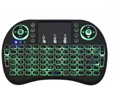 Inext 2.4GHz Mini Wireless Keyboard with Touchpad Mouse Smart Connector, Wireless Multi-device Keyboard(White, Black) at flipkart