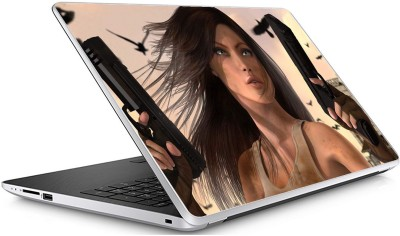 GADGETS WRAP Universal Girl Bang Skin For 15.6 Inch Laptop  15x10 inch  Vinyl Laptop Decal 15.6