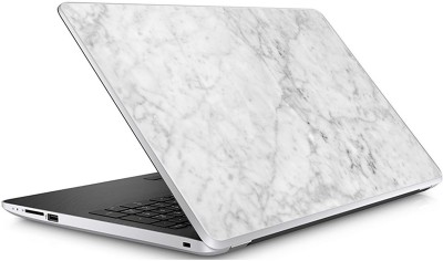 GADGETS WRAP Universal WHITE SCRATCHED MARBLE Skin For 15.6 Inch Laptop (15x10 inch) Vinyl Laptop Decal 15.6