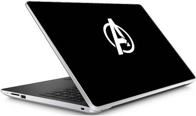 GADGETS WRAP Universal Avengers B W Logo Skin For 15.6 Inch Laptop (15x10 inch) Vinyl Laptop Decal 15.6