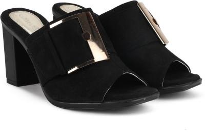 Catwalk Women Black Heels on Flipkart