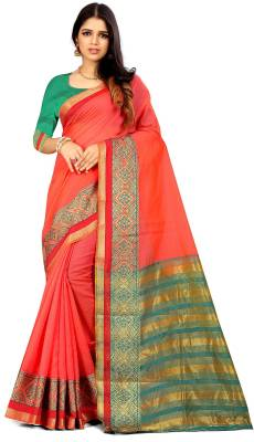 MANIKARNIKA Self Design Banarasi Cotton Saree