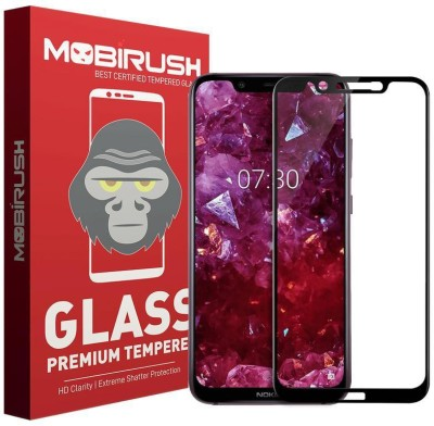 MOBIRUSH Edge To Edge Tempered Glass for Nokia 8.1(Pack of 1)
