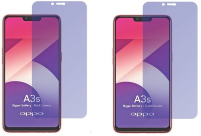 HRV Tempered Glass Guard for Oppo A3S [ PACK OF 2 ] GOLDEN Series Anti-Blue Ray Tempered Glass Screen Guard(Pack of 2)
