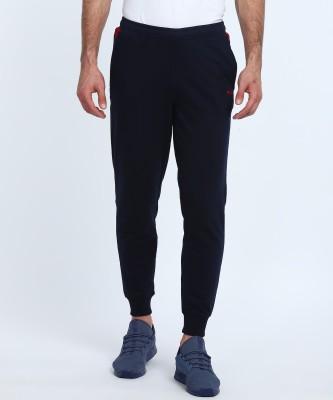 Fila Solid Men Dark Blue Track Pants