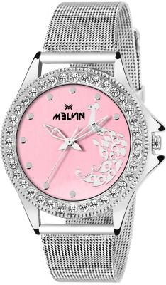 MELVIN LADIES ML-LR-0015N PNK CHN DIAMOND Watch  - For Girls