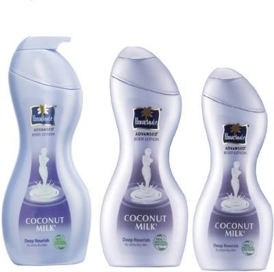 parachute coconut milk body lotion Deep Nourish 400ml+250ml+100ml(750 ml)