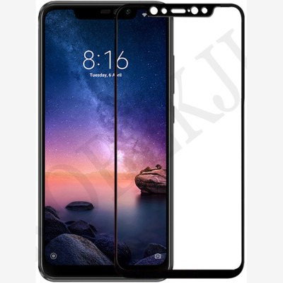 DG(DEVICE) Edge To Edge Tempered Glass for Mi Redmi Note 6 Pro(Pack of 1)