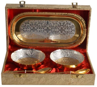 The Art Box Dinner Set(Brass) at flipkart