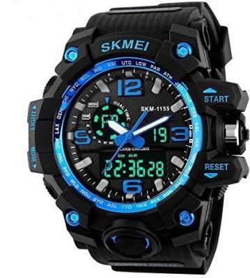 Skmei blue22557 SKMEI 1155 LED And Pointer Display 50M Multifunctional Waterproof Calendar Stopwatch Sports Watch Analog-Digital Watch  - For Men