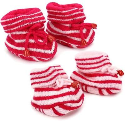 KidBee Booties(Toe to Heel Length - 12 cm, Pink,Rani)