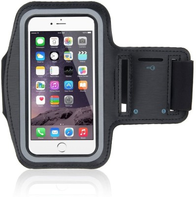 LIFEMUSIC Arm Band Case for All Phones with Built in Screen Protector for Universal Riding, Sports, Gym and Excercise(Black, Waterproof)