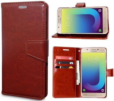 Unistuff Back Cover for Samsung Galaxy J7 Prime(Brown, Magnetic Case)