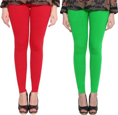 CN FASHION Churidar  Legging(Black, Red, Pink, Green, Solid)