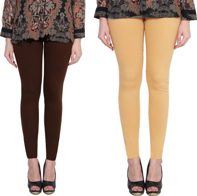 Aditi Fashion Ankle Length  Legging(Black, White, Light Green, Brown, Solid)