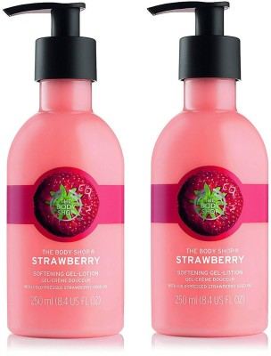 The Body Shop Strawberry Softening Lotion Combo 250Ml+250ML (Pack Of Two)(500)