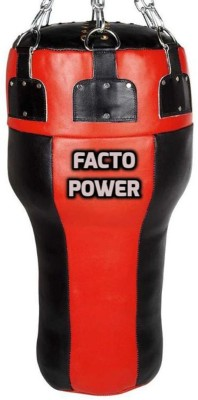 FACTO POWER 2 Feet Length RED and BLACK Color With Chain Unfilled Synthetic Leather Uppercut Bag(Heavy, 1 kg)
