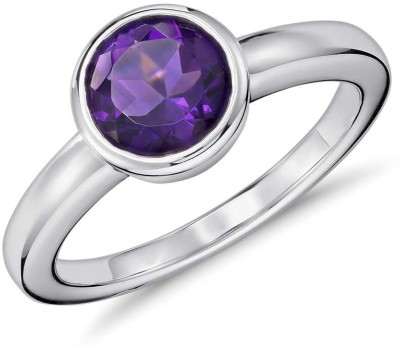 SMS Retail 8.25 Ratti Stone Amethyst Copper Plated Ring at flipkart