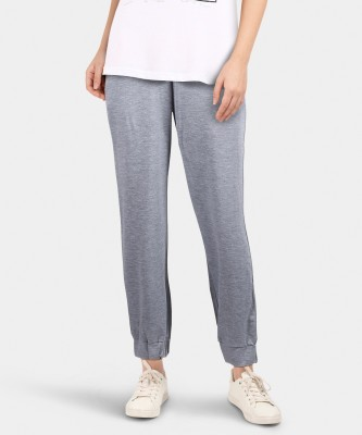 United Colors of Benetton Solid Women Grey Track Pants at flipkart
