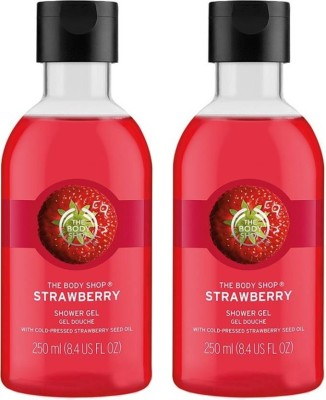 The Body Shop Strawberry Shower Gel 250ML+250ML Pack Of Two(500, Pack of 2)