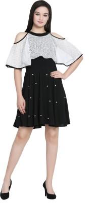 Fashion Ritmo Women Drop Waist Black Dress