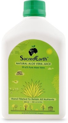 SacredEarth Natural Aloe Vera Juice - With 99.6 % Pure Aloe Vera Juice (200ml Extra)(500 ml) at flipkart
