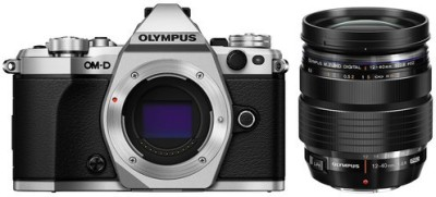 Olympus OM-D D E-M5 Mark II Mirrorless Camera Digital ED 12-40mm f2.8 PRO Lens(Silver, Black)