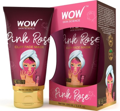 WOW Skin Science Pink Rose Clay Face Mask