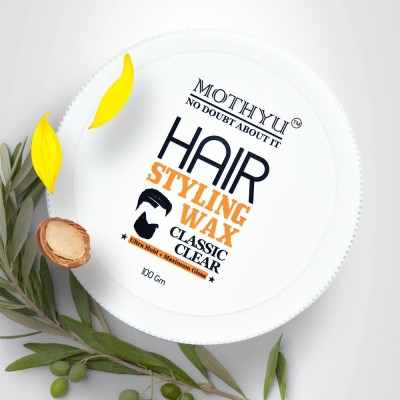 MOTHYU Hair styling wax (100gm) / classic clear/ ultra hold+maximum gloss Hair Wax(100 g)