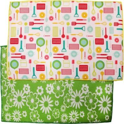 LakhanPal Microfiber Baby Sleeping Mat(Green, Yellow, Medium)