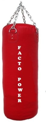 FACTO POWER 3.0 Feet Long, PU Material, Red Color, Unfilled with Hanging Chain Hanging Bag(3.0, 36 kg)