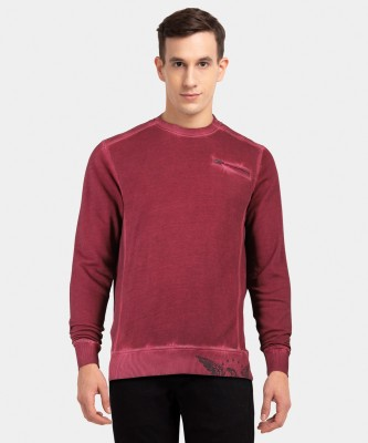 ARROW BLUE JEANS CO. Full Sleeve Solid Men Sweatshirt at flipkart