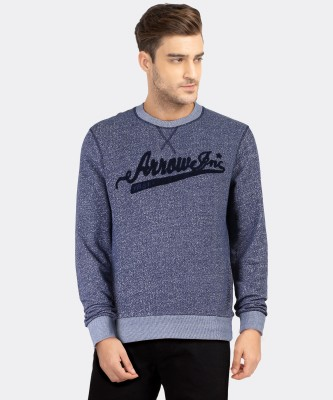 ARROW BLUE JEANS CO. Full Sleeve Self Design Men Sweatshirt at flipkart