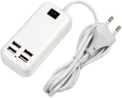 FU4 HUB ORIGINAL 15W USB 4 PORTS DESKTOP TRAVEL HUB 15 W USB 4 PORTS USB Charger  White  USB Hub White FU4 Mobile Accessories
