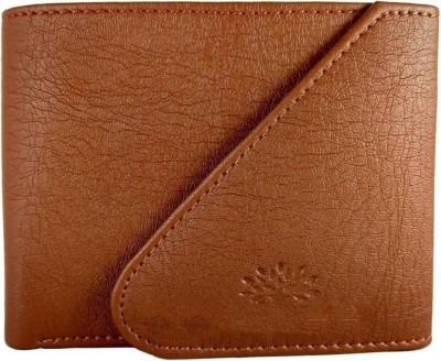 Men Formal Tan Artificial Leather Wallet