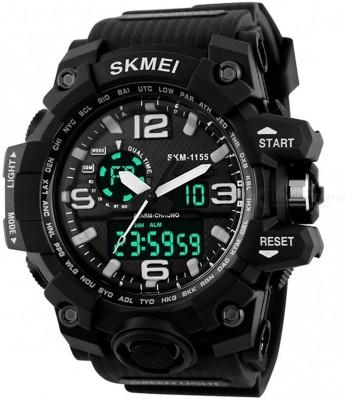 Skmei Black Analog & Digital Water Proof Sport Wrist Watch for Men and Boys Analog-Digital Watch  - For Men