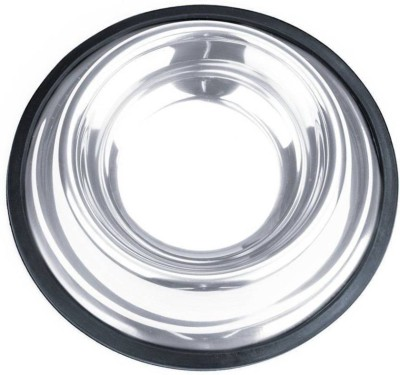 S.Blaze Round Steel Pet Bowl 500 Silver S.Blaze Dog Bowls
