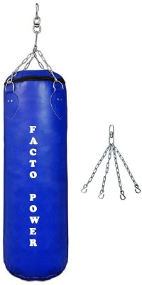 FACTO POWER 1.5 Feet Long, PU Material, Blue Color, Unfilled with Hanging Chain Hanging Bag(1.5, 18 kg)