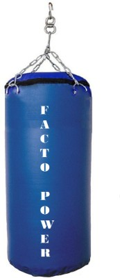 FACTO POWER 3.0 Feet Long, SRF - STANDARD Material, Blue Color, Unfilled with Hanging Chain Hanging Bag(3.0, 36 kg)