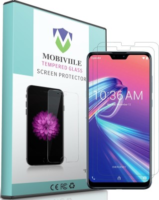MOBIVIILE Tempered Glass Guard for Asus Zenfone Max Pro M2(Pack of 2)