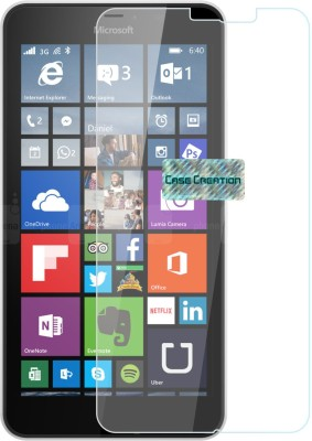 Case Creation Edge To Edge Tempered Glass for Nokia Lumia 640XL 2015(Pack of 1)