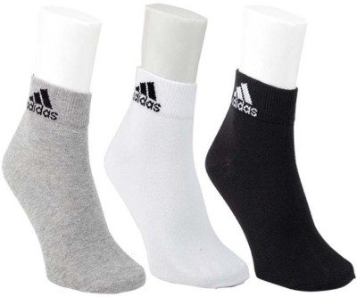 ADIDAS Men Ankle Length(Pack of 3)