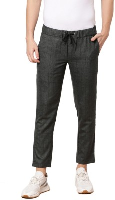ether Regular Fit Men Black Trousers at flipkart