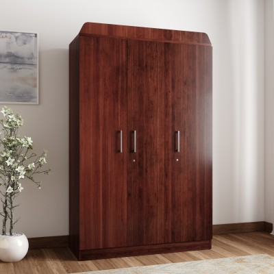 Flipkart Perfect Homes Julian Engineered Wood 3 Door Wardrobe(Finish Color - Walnut)