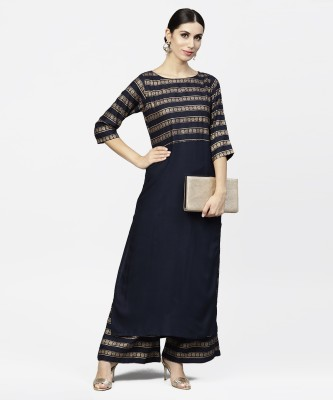 Nayo Women Kurta and Palazzo Set at flipkart